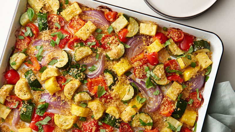 Sheet-Pan Roasted Summer Vegetables