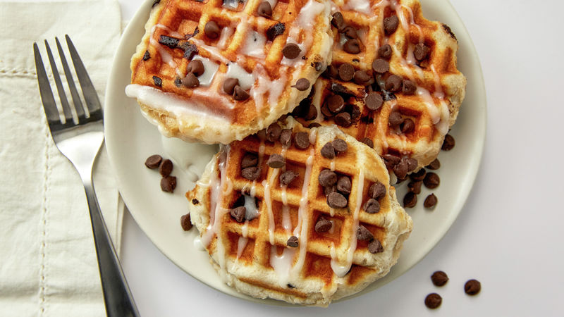 Chocolate Chip Biscuit Waffles