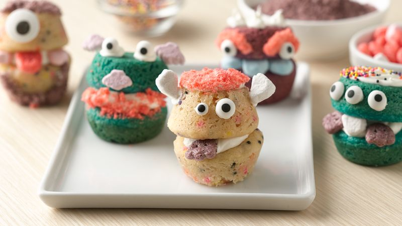 Chomping Monster Cookie Cups