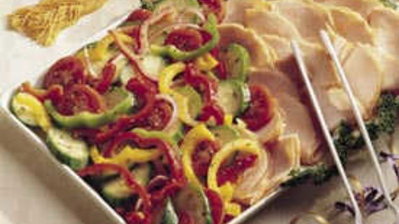 Marinated Vegetables and Turkey Platter