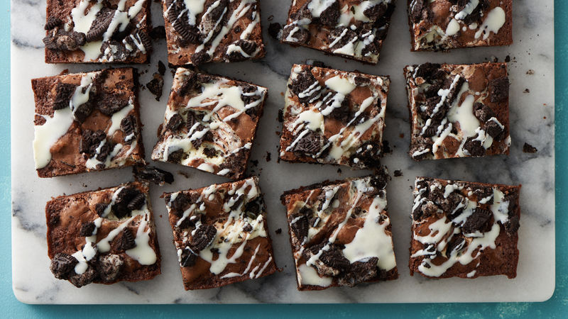 Cream Cheese Oreo™ Swirl Brownies