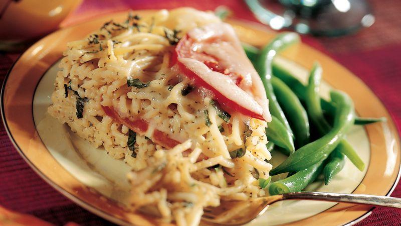 Spaghetti Basil Torte