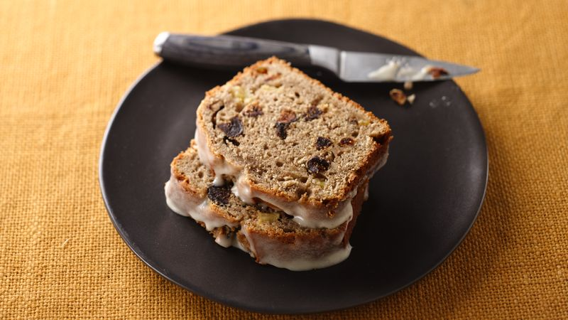 Apple Fig Bread with Honey Glaze