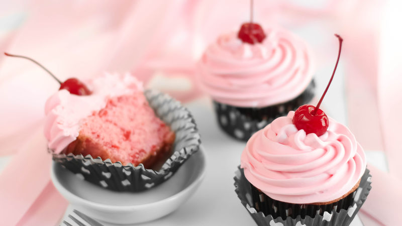 Cheery Cherry Chip Cupcakes Recipe Tablespoon Com