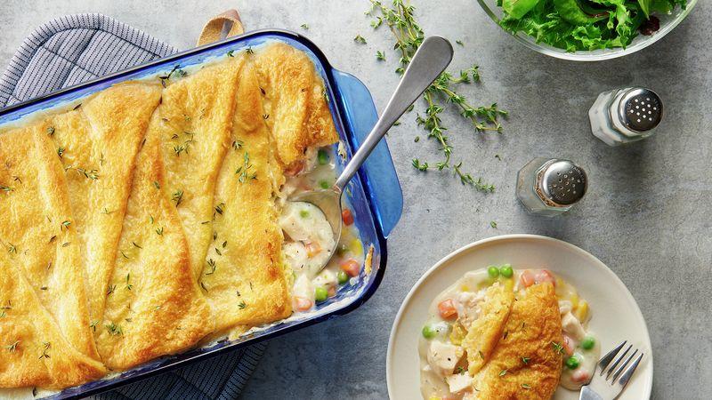 Chicken Pot Pie Crescent Bake
