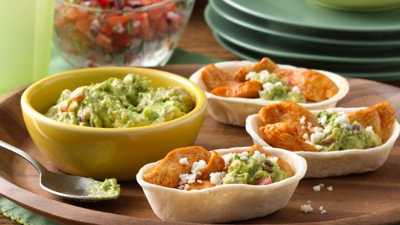 Mini Chicken and Guacamole Ten Minute Taco Boats™