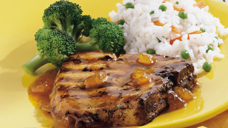 Peach-Dijon Pork Chops
