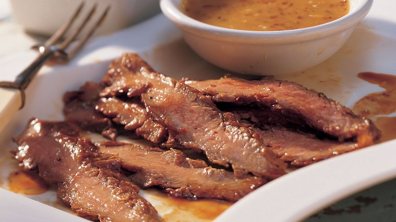 Flank Steak with Smoky Honey Mustard Sauce