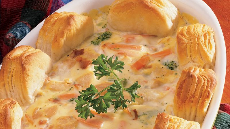 Biscuit Easy Turkey Pot Pie Recipe Pillsbury Com