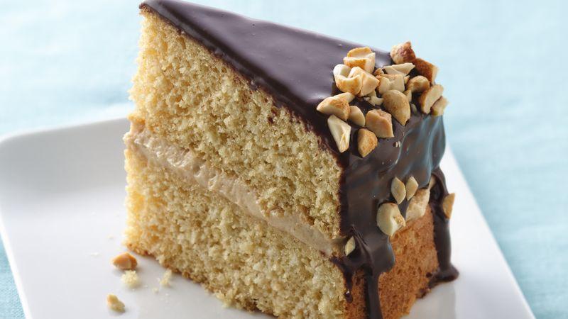 Peanut Butter Boston Cream Cake