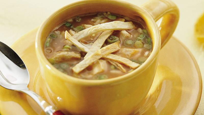 Southwestern Chicken Rice Soup