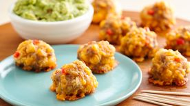Spicy Sausage Crescent Cheese Balls