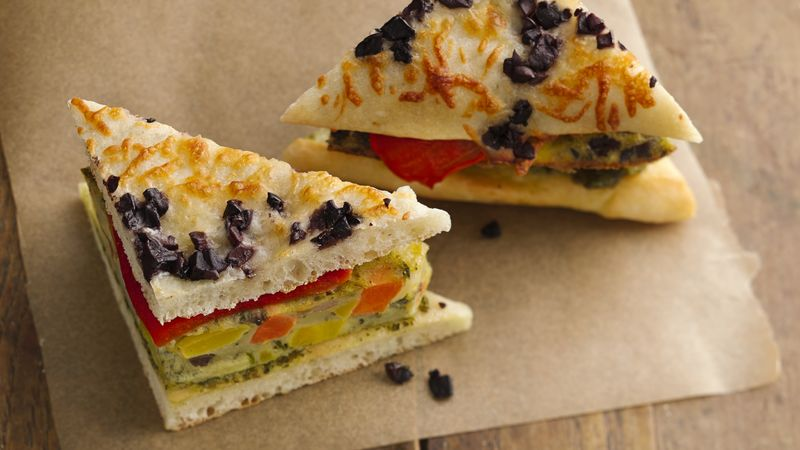 Veggie Frittata Breakfast Sandwiches