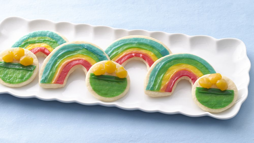 Rainbow and Pot of Gold Cookies