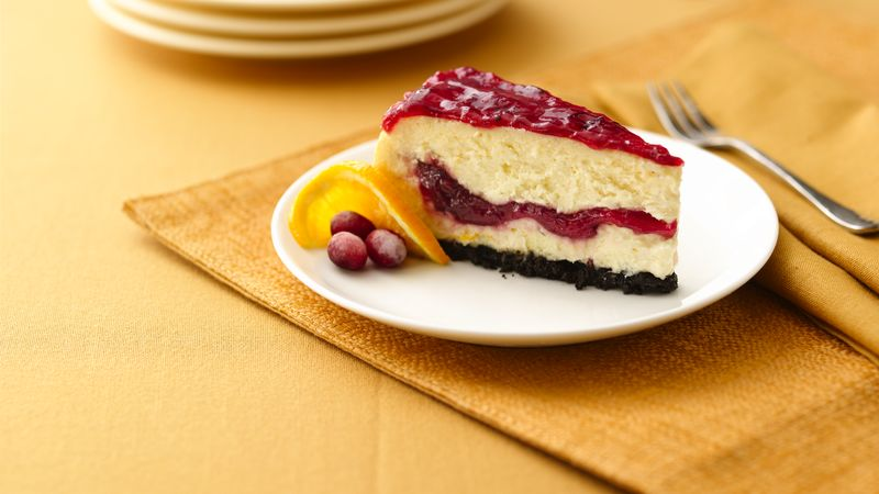 Cranberry Ribbon Cheesecake