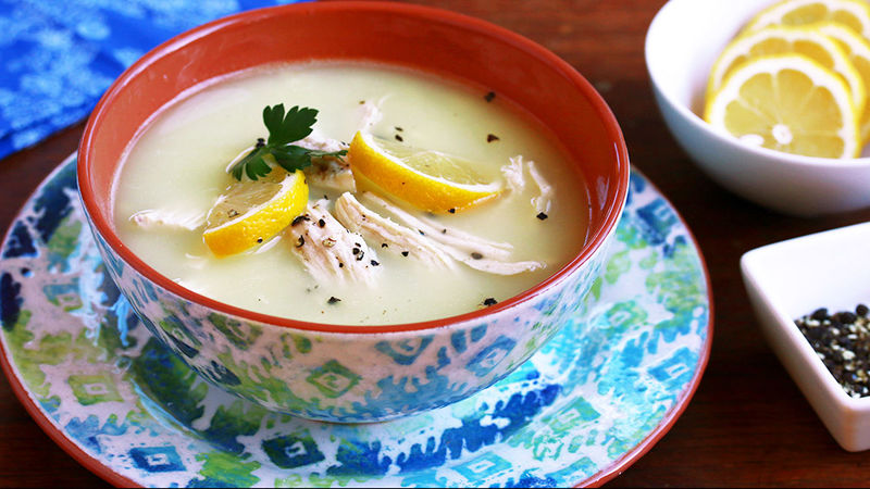 Easy Avgolemono Soup (Greek Lemon Soup)