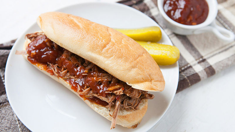 Leftover-Beer Brisket Sandwiches