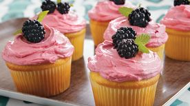 Blackberry Citrus Cupcakes