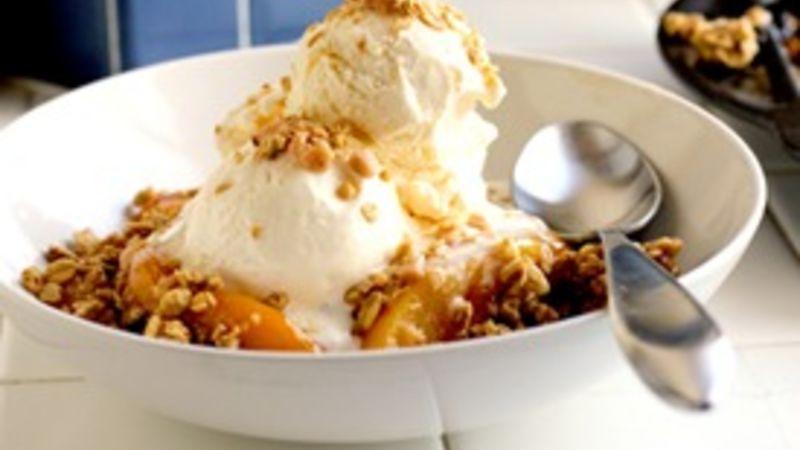Caramel Peach Cobbler