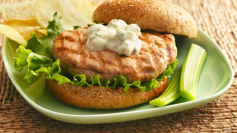Buffalo Blue Cheese Grilled Chicken Burgers