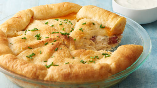 Chicken-Bacon-Ranch Crescent Bake