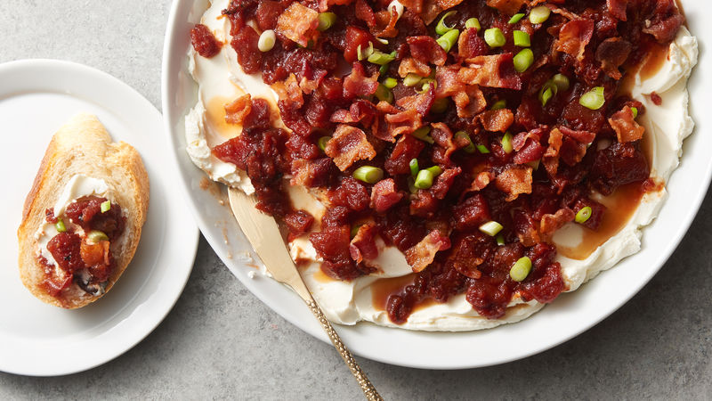Bacon and Tomato Jam Layered Dip