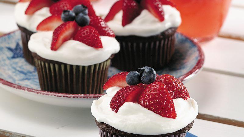 Star-Berry Cupcakes