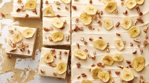 Banana Sheet Cake with Browned Buttercream Frosting