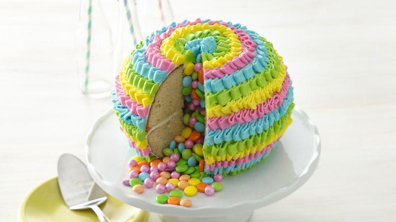 Excellent Pinata Pound Cake Recipe Bettycrocker Com Funny Birthday Cards Online Elaedamsfinfo
