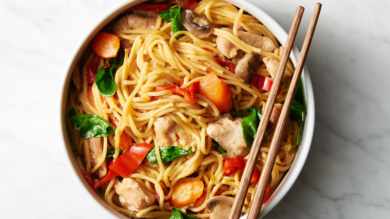 Instant Pot™ Chicken and Vegetable Lo Mein