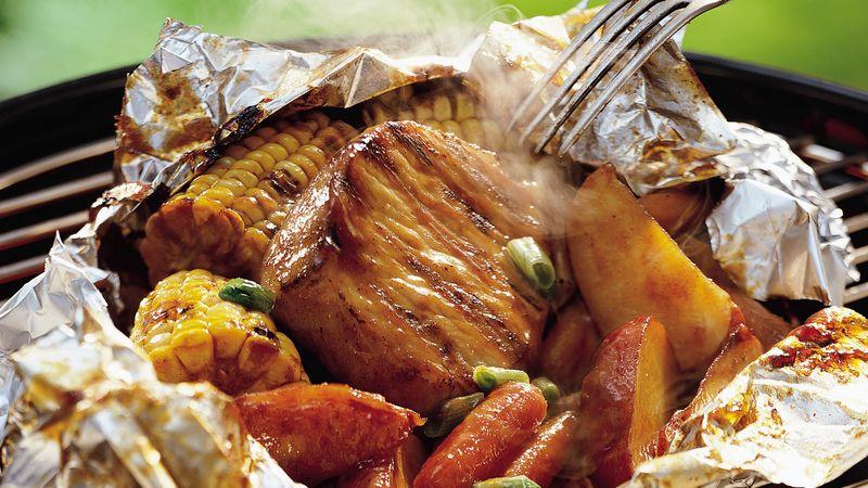 Grilled Honey BBQ Pork Packs