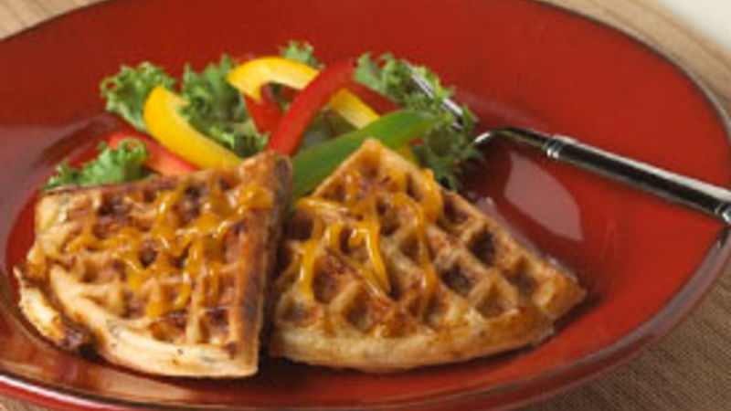 Cheddar and Sausage Waffles