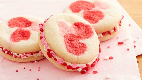Valentine Hearts Sandwich Cookies Recipe Pillsbury Com