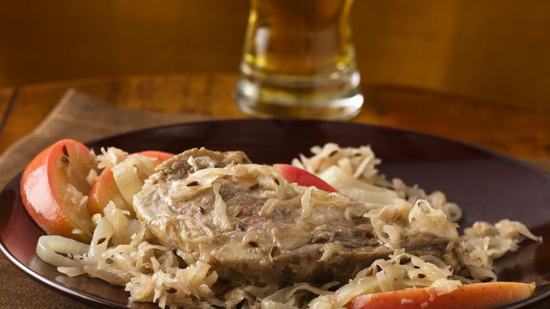Slow-Cooker Country-Style Ribs and Sauerkraut