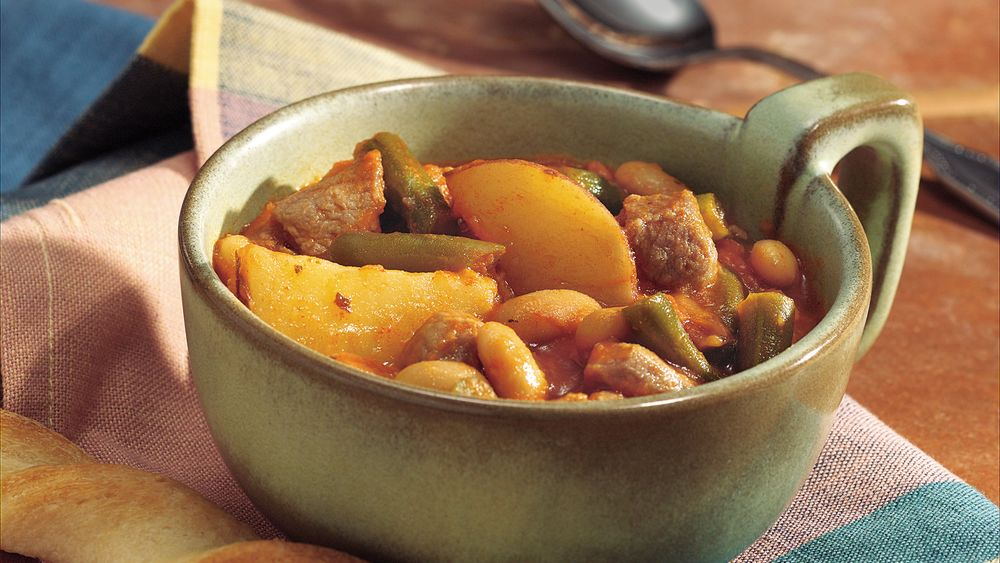 Oven Pork and Cannellini Bean Stew