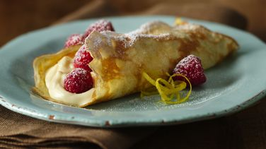 Fresh Lemon Cream Crepes