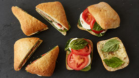 Easy Caprese Picnic Sandwiches