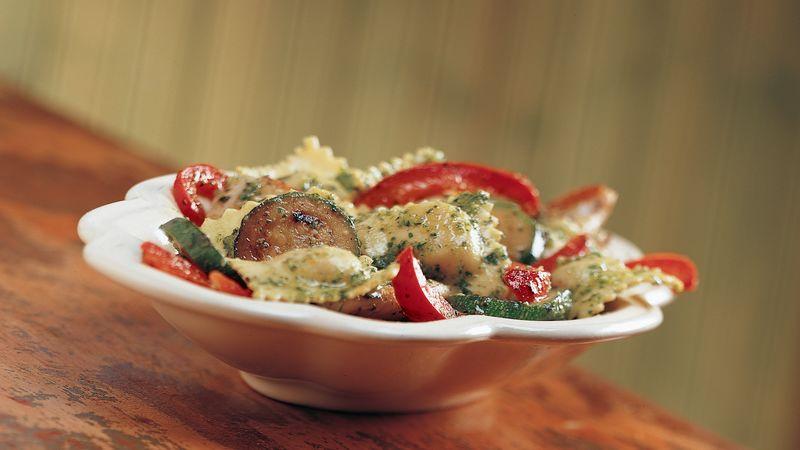 Pesto Ravioli with Chicken