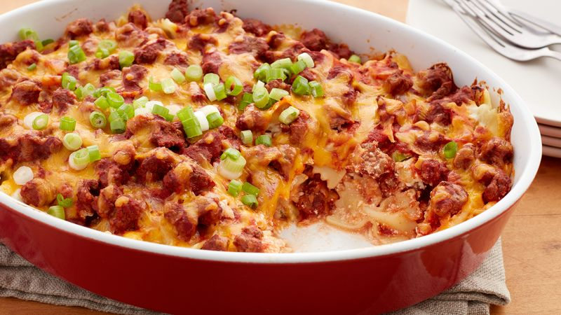 Creamy Ground Beef Noodle Casserole Recipe Bettycrocker Com