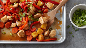 Sheet-Pan Teriyaki Chicken and Pineapple Stir-Fry