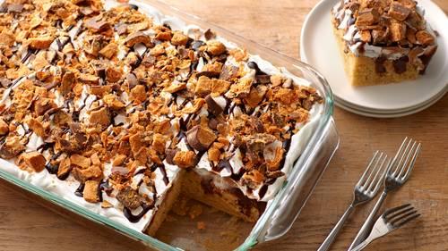 Butterfinger™ Poke Cake image