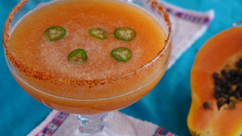 Spicy Papaya Margarita