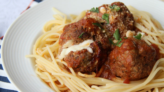 Slow-Cooker Cheese-Stuffed Meatballs