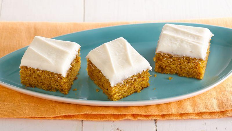 Gluten Free Pumpkin Bars With Cream Cheese Frosting Recipe Bettycrocker Com