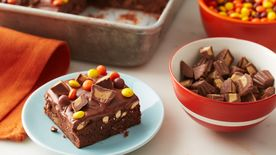 Halloween Candy Brownies