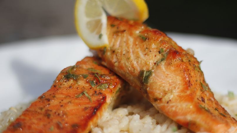 Honey-Mustard Glazed Arctic Char