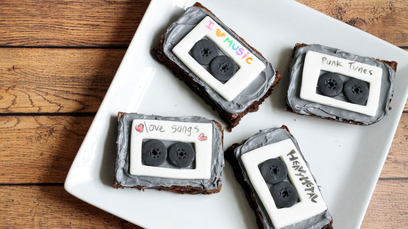 Mix Tape Brownies