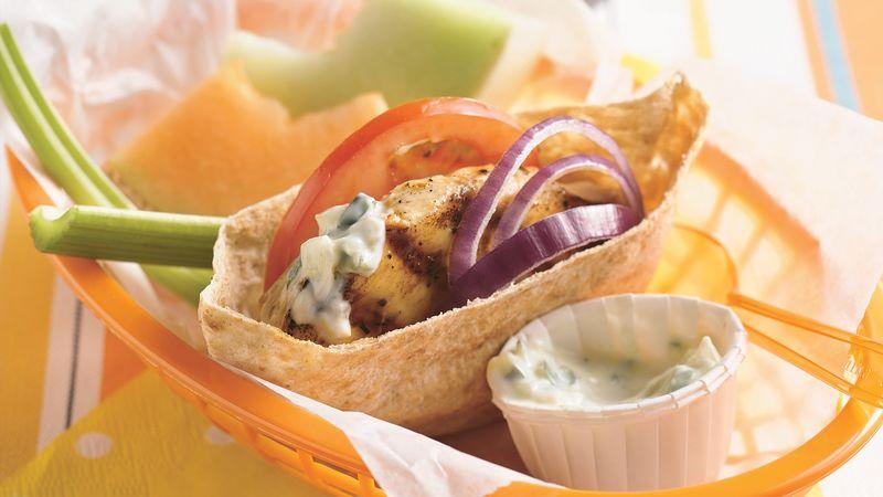 Grilled Greek Chicken Sandwiches