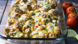 Chicken Fajita Bubble-Up Bake