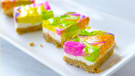 No-Bake Neon Cheesecake Bars